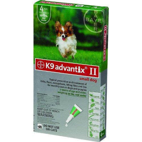 Dog Supplies K9 Advantix Ii Green .4Ml 1 - 10Lb 4Pk by K-9 Advantix (Pack Advantix Green 4)