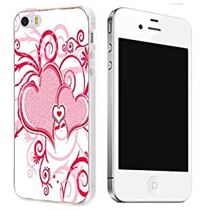 New Hard TPU Printed Design Case for iPhone 5 - Red Heart by ruishername