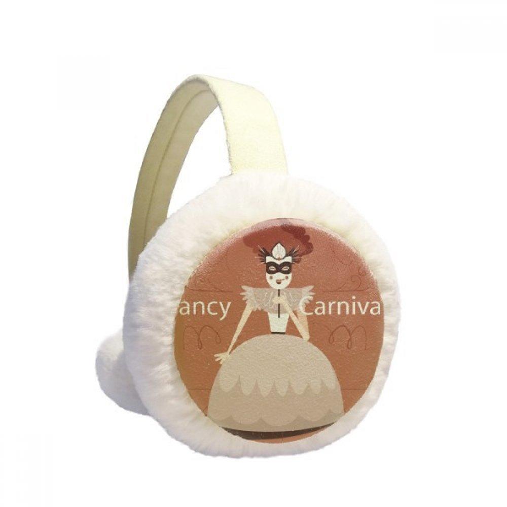 Female Dress Mask Happy Carnival Of Venice Winter Earmuffs Ear Warmers Faux Fur Foldable Plush Outdoor Gift