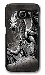 Black Dragon PC Case Cover for Samsung S6 and Samsung Galaxy S6 Black