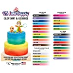 U. S. Cake supply airbrush cake color set - the 12 most popular colors in 2. 0 fl. Oz. Bottles with color mixing wheel… 8 airbrush colors are highly concentrated edible airbrush food colors with superior strength and are the brightest and truest colors available colors come in sealed bottles with easy-to-use twist-top dispenser bottles achieve an endless spectrum of magnificent colors with these intermixable airbrush colors