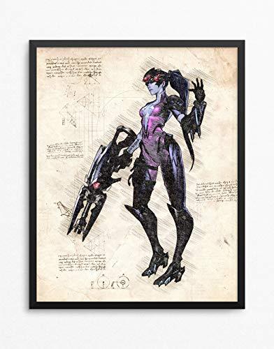 (Overwatch Print, Widowmaker Print, Overwatch Poster, Widowmaker Poster, Game Poster, Blizzard N.037 (8 x 10 inch))