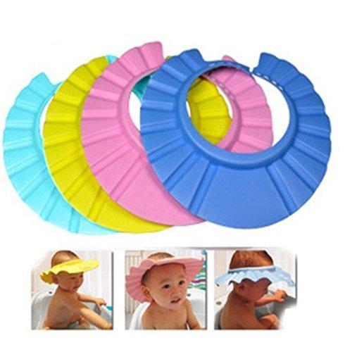 Vvhome Baby Hat Child Kid Shampoo Bath Shower Wash Hair Shield Cap (green)