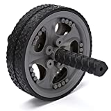 YISMEET Dual Ab Power Wheel/Non-Skid Exercise Toning Wheels, Flawless Fitness Roller Abdominal Exercise Equipment, Best Sport Fitness Workout for Abs, Core and Abdominal Trainers