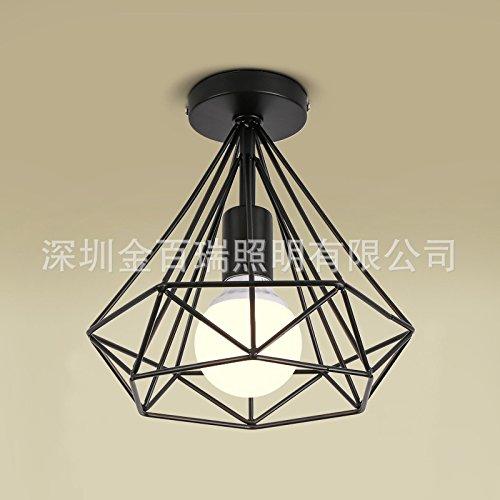 KANG@ Plafond Led Luminaire pour chambre à coucher salle de séjour salle à hommeger moderne et simple de création du corridor lustre,25cm,noir Pas de source optique
