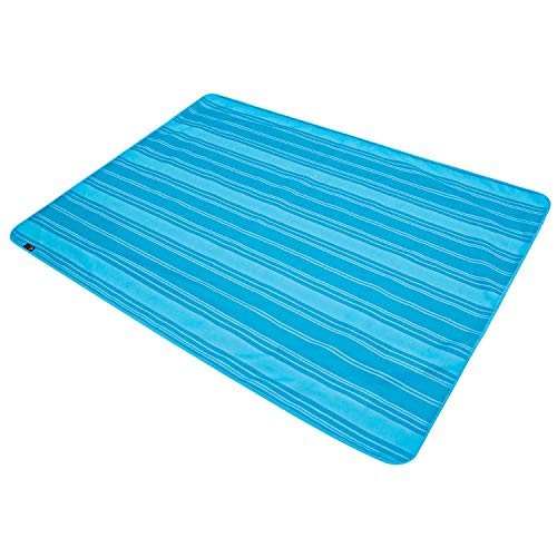 (PORTAL Foldable Large Picnic Camping Beach Blanket Mat, Blue)