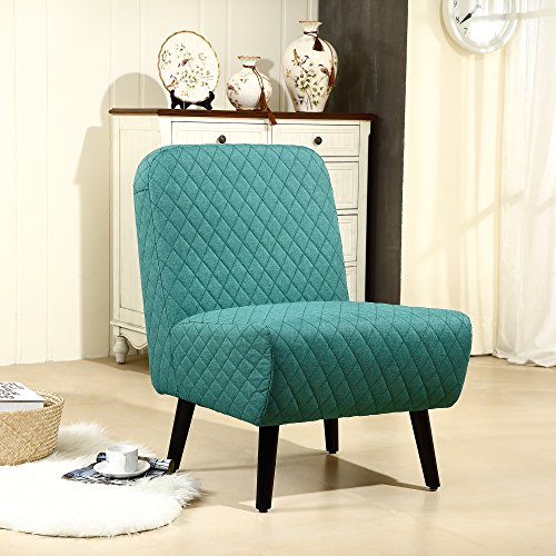 lssbought modern muted fabric armless chair stylish accent chair green