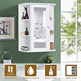 Tangkula Bathroom Cabinet, Single Door Wall Mount