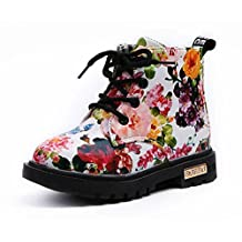 Bumud Boy's Girl's Waterproof Lace-up Martin Boots (Toddler/Little Kid)