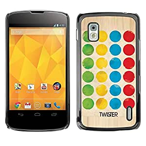 For LG Google NEXUS 4 / Mako / E960,S-type® Game Twist Family Fun Kids - Arte & diseño plástico duro Fundas Cover Cubre Hard Case Cover