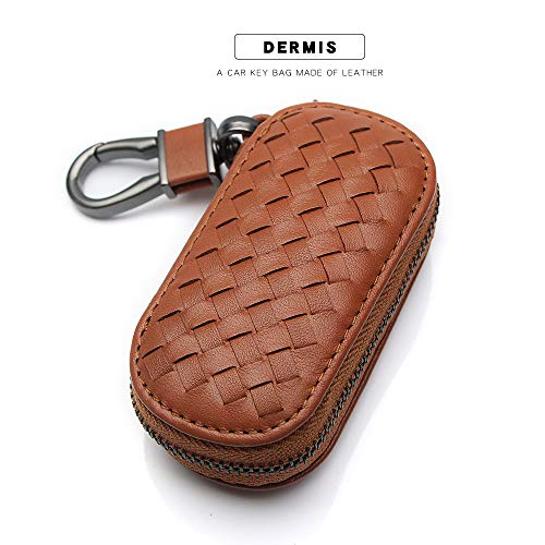 Vslih Genuine Leather Car Key Case Key Fob Cover Key Fob Holder