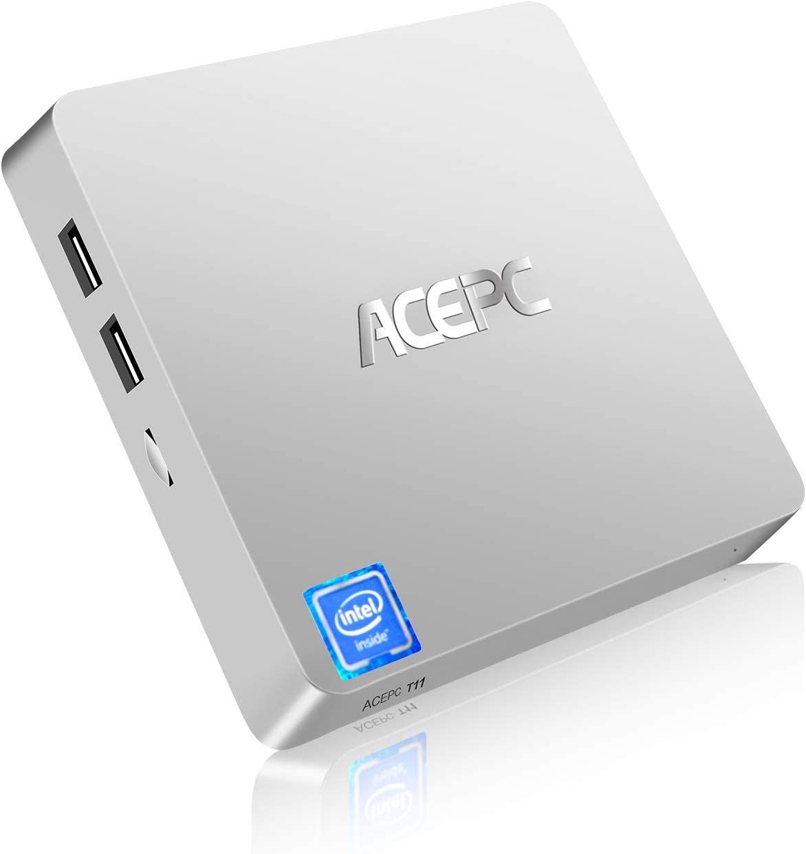 Mini PC, ACEPC T11 Windows 10 Pro(64 bits) Intel x5-z8350,sin Ventilador,con Terminal HDMI/VGA, Alta resolución 4K, 4GB/64GB eMMc,2.4/5G WiFi,Gigabit Ethernet,Soporte 2.5 Pulgadas Sata SSD/HDD …