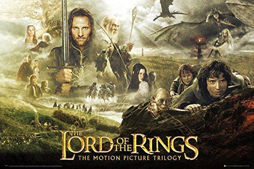 Lord of the Rings Trilogy Movie Poster Print