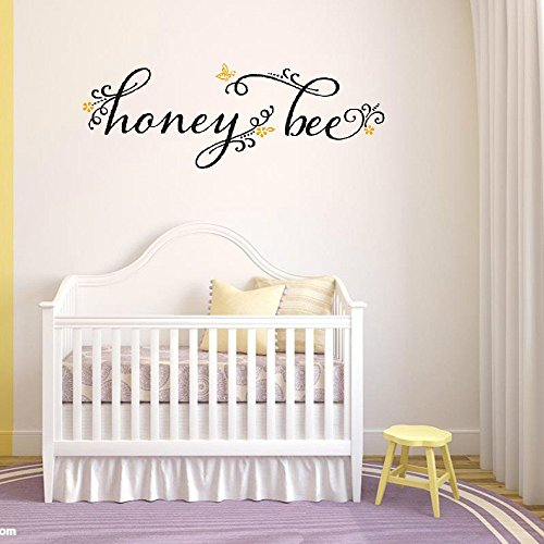 dfhrg Honey Bee Vinyl Wall Decals Quotes Sayings Words Art Deco Lettering Inspiration