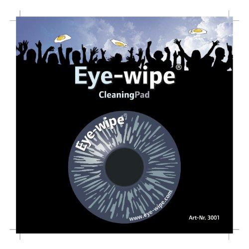 EYE WIPE ® Display-Cleaner Reinigungspad aus High Tech Microfaser für alle Display´s DOPPELSEITIGE Version NICHT selbsthaftend die TOP Weihnachtsgeschenk Idee EI WISCH 3001
