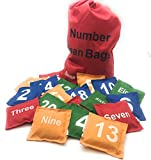 Number Beanbags Assorted 20 pc by Oojami …