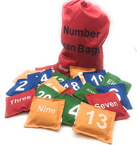 Oojami Number Beanbags Assorted 20 (Numbered Bean Bags)
