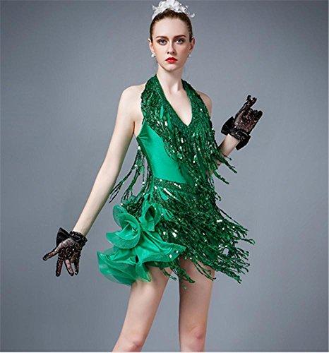 de latine danse gamme jupe robe danse Femme haut de green de zqH10