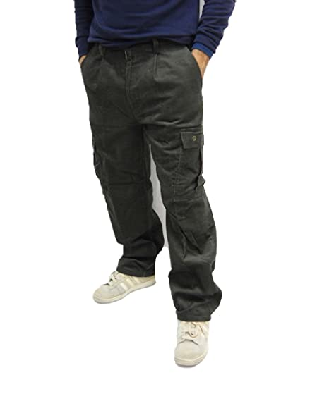 da7a5a1724 Fratelliditalia Pantalone Velluto Pantaloni Caccia Invernali Foderati  Tasche Felpati Pesanti