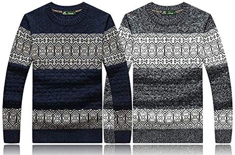 Męski sweter z dzianiny wełna bawełniana gruby dzianina z męskim swetrem okrągły dekolt Nner prosty styl jesień zima sweter dziergany Knitt sweter: Odzież