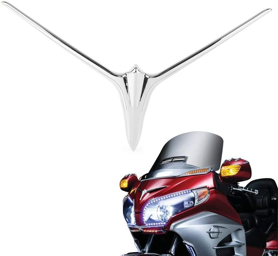 Semoic Motorcycle Upper Fairing Eyebrow Trim Accent Decoration for Goldwing Gl1800 F6B 2012 2013 2014 2015 2016 2017 Motorcycle Accessories