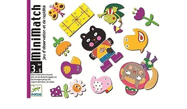 Amazon.com: Djeco Card Game - MiniMatch by Djeco: Toys & Games
