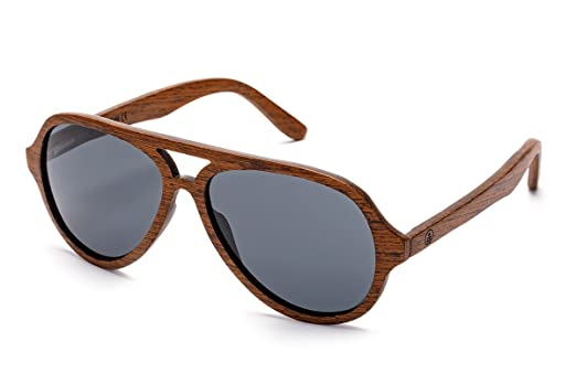 tree tribe wooden aviator sunglasses polarized lens wood frames bamboo case amber - Wood Frame Sunglasses