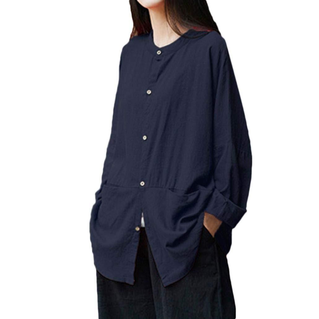 YunYou Frauen Retro Long Sleeve beiläufige Lose Knopf Minirock Vertuschen  Bluse Bunte Sommerblusen schöne Blusen Online kaufen Damenbluse Braun  Weisse weiß ... 72bc99c4ee