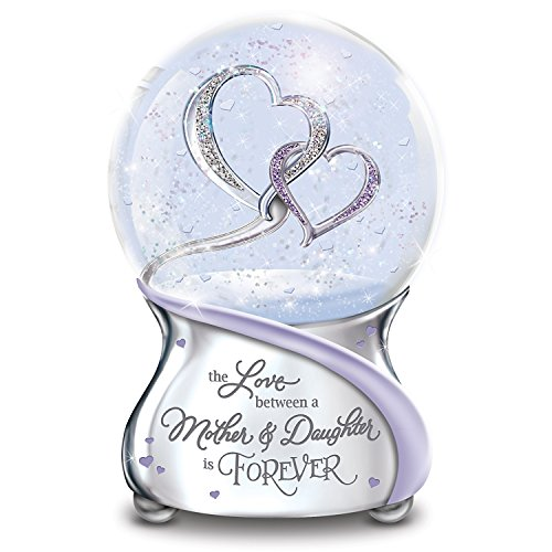 Mom Glitter - The Bradford Exchange The Love Between Mother and Daughter is Forever Musical Glitter Globe from Mom
