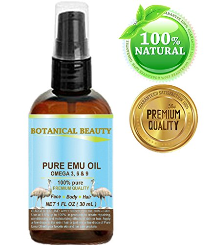 PURE EMU OIL, 100% Pure, 1 oz-30 ml. For Face, Hair, Body and Nails. Great...