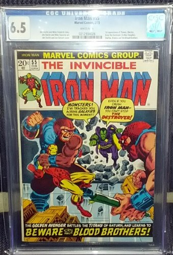 Iron Man #55 1st Appearance Thanos