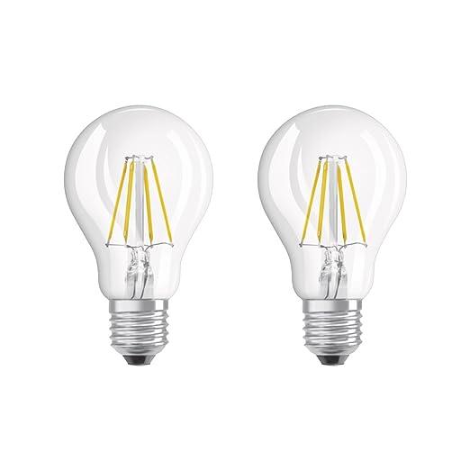 Osram Bombilla LED E27, 4 W, Blanco, 2