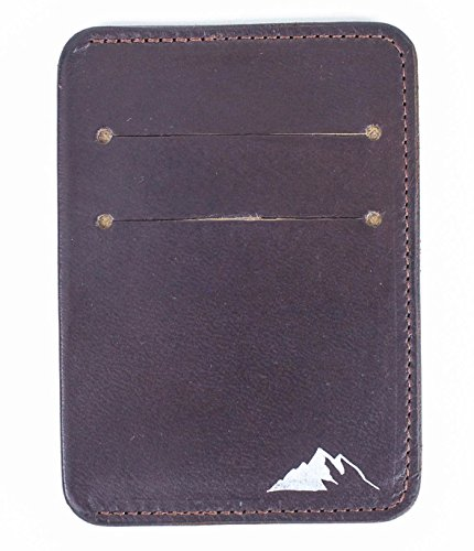Slim RFID Front by Burgundy Blocking Rugged Wallet Pocket Minimalist Wallet Leather Mens Material Dark IzxwU0Uqd