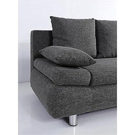 Assez Naho canapé fixe ou convertible 3 places 205x97 cm - gris: Amazon  TP84