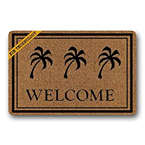 """artsbaba divertido felpudo palmera de bienvenida Felpudo alfombra interior lavable Felpudo Home Decor 23.6""""x 15.7"""""""