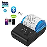 Mini Thermal Printer, Wireless Bluetooth 58mm Portable Label Printer, USB Thermal Receipt Printer for Windows/Android/IOS System (Blue)