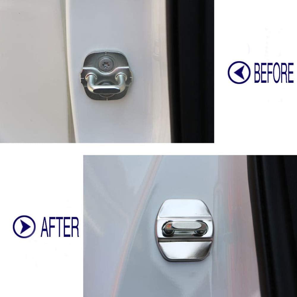 LAUTO Cubierta Protectora de Acero 4pcs Set Inoxidable de Coches Seguros de Puerta para Renault Koleos Kadjar,Azul