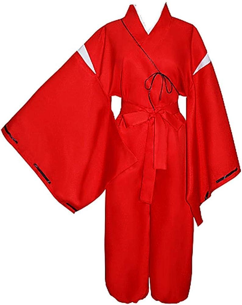 charous Disfraz de Inuyasha de Anime para Cosplay, Disfraz de Kimono de Halloween, para Mujeres y Hombres