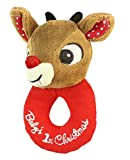 Kids Preferred Baby's First Christmas Ring Rattle, Rudo