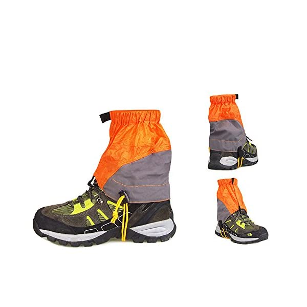 Guerbrilla Unisex Ultra Light Trail Snow Leg Gaiter Shorter Hiking Boots Gaiters Waterproof Gaiters