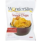 WonderSlim Pea Protein Snack Chips (10g) - Sweet Hickory - Low-Carb Diet Healthy Protein Snack - Gluten-Free, Vegan (20 Bags)