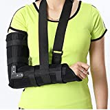 Wgwioo Arm Sling Elbow Shoulder Padded Support Brace Humerus Splint Immobilize Stabilize The Injured Aid Unisex,Black,L