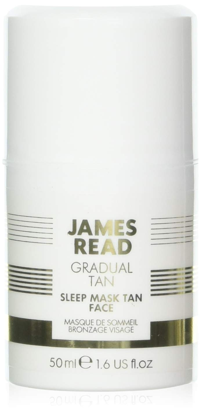 JAMES READ Sleep Mask Tan for Face 50ml LIGHT/MEDIUM Overnight Gradual Self-Tanning Gel Mask; Fast Drying, Develops in 6-8 Hours & Lasts up to 7 Days, Suitable for all Skin Tones 5000444029549