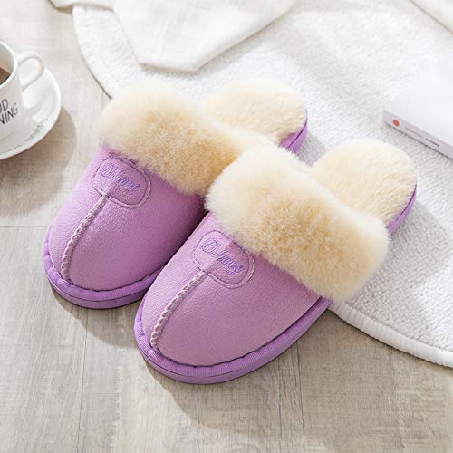 À Causales Couple Automne Confortable L'intérieur Chaudes Mimoo Hiver Coton Mignonnes Léger En De Flip Flop Plancher Pantoufles Purple Et Femmes Des Quelques g7w5aqx