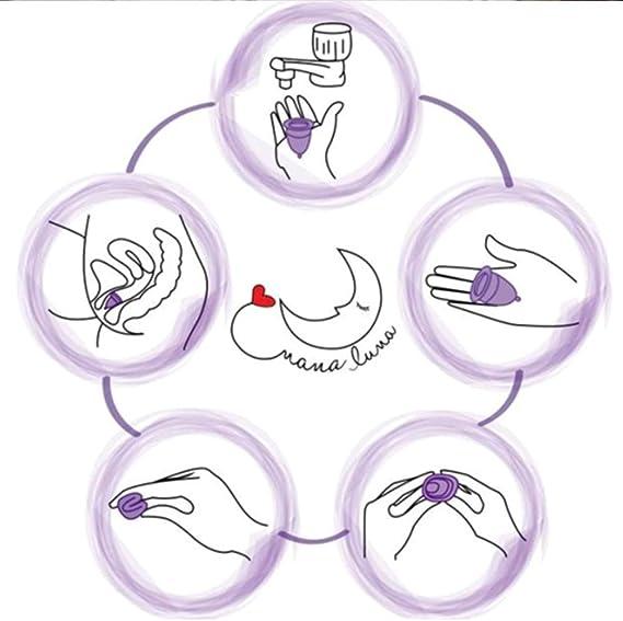 Copa Menstrual reutilizable suave suave Menstrual Cup Cuidado ...