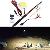 HITSAN 12V 296W Telescopic Fishing Lamp Car Rod Light LED Camping Lamp Remote Controller Car Lantern One Piece