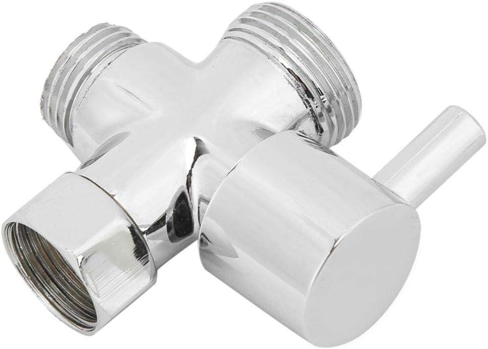 Rust Resistant Bathroom Supplies Shower Diverter,G1//2in Multifunction Home Bathroom Shower Water Diverter Adapter Valve Single Inlet Dual Outlet