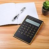 Caveen Calculator Ultra Thin Calculator for Home Office Desktop Calculator Tilted LCD Display Business Calculator (Upgrade, Black)