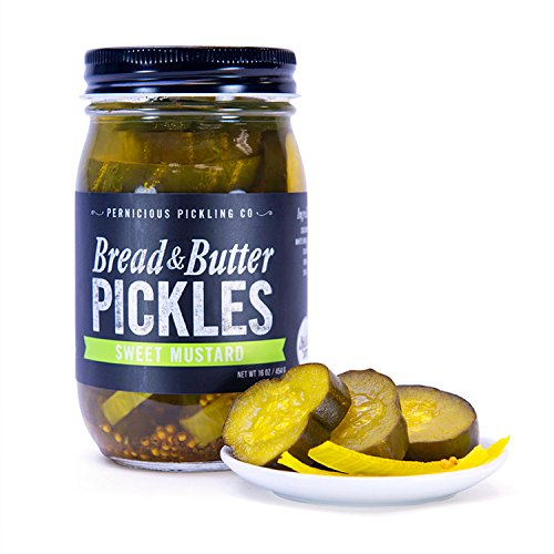 - Sweet Mustard Bread & Butter Pickles by Pernicious Pickling Co (16 ounce)