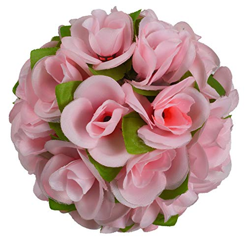 Woooow Artificial Rose Ball,Rose Ball with Ivy Leave Wedding Flower Ball for Front Patio,Planter,Deck,Garden,Backyard and Home Decor,1 Pack(10